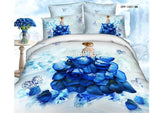 housse de couette, landscape 3d oil print bedding set luxury cotton ocean Queen size duvet/quilt/comforter - Shopy Max