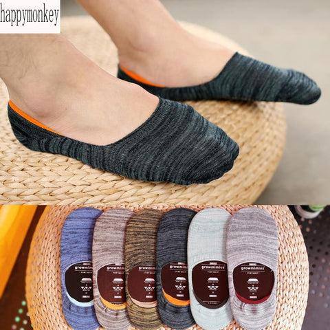 10 pieces= 5 pairs Spring summer new free man silicone antiskid invisible socks
