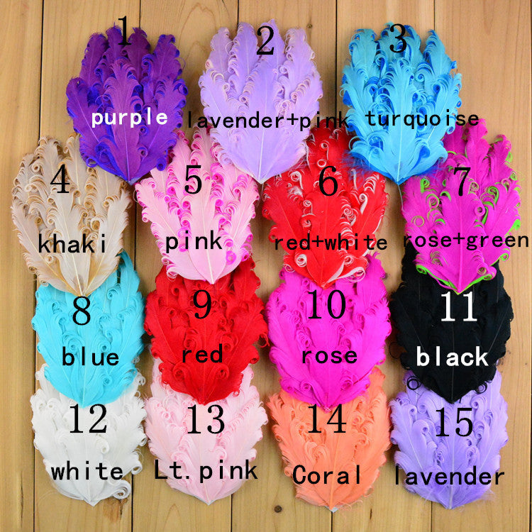 10pcs 2016 new high quality handmade Popular Curly feathers color Curly feathers 15colors - Shopy Max