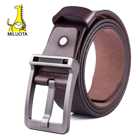 [MILUOTA] 2015 New Men's fashion belt brand genuine leather men belt buckle