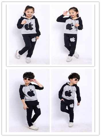 2015  Girls& boys set Spring/autumn sport suits AM boy hoodies coat