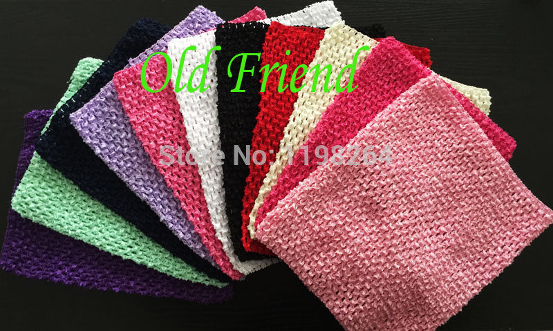 10'' Crochet  Tutu Tube Tops Chest  Wrap , Kid's Wide Crochet Elastic Headbands, 2pcs/lot 11 color free shipping - Shopy Max