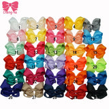 Hot Sale 4 Inch Boutique Hair Bow Baby Girls Grosgrain Ribbon HairBow with Clips