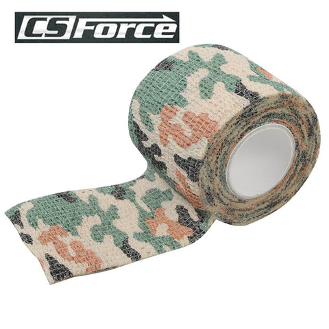 5pcs/lot 4.5M 1 Roll Camo Stretch Bandage Camping Hunting Camouflage Tape Telescopic Camo Stretch Bandage for Gun Cloths Bicycle