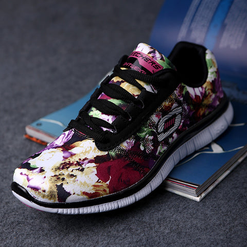 2016 Summer Casual Shoes Women Zapatillas Deportivas, Ultralight Flower.