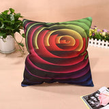 LS4G Home Colorful Geometry Nature Home Cotton Linen Throw Pillow Case Cover Small Pillowcase Free Shipping