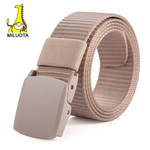 [MILUOTA]2015 Designer Belts Men High Quality Canvas Outdoor Belt