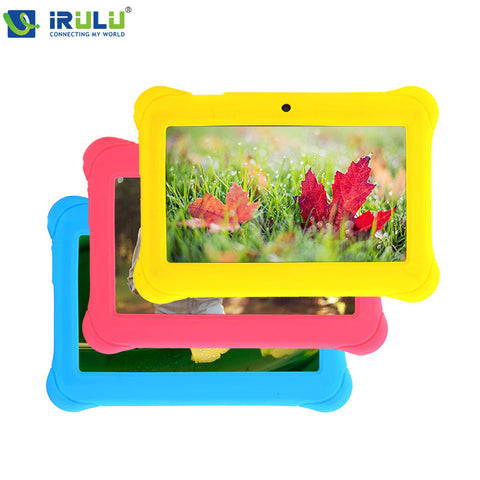 Newly-launched iRuLu 7'' Tablet for kids Children RK3026 Cortex A8 Android 4.4 Dual Core 512M+8GB Dual Camera External 3G wifi