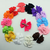 2015 Ribbon Baby Korean Boutique Hair Bows with Clips Fashion Hair Clips for Girl Hair