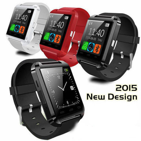 3 Colors Sport U8 U80 Bluetooth Smart Wrist Watch (iOS/Android)