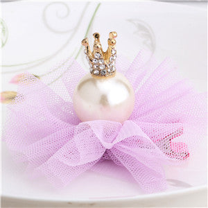 Hot Sale!2016  New Yarn Pearls Crown Hairpins Girls Hair Accessories Best Gift For