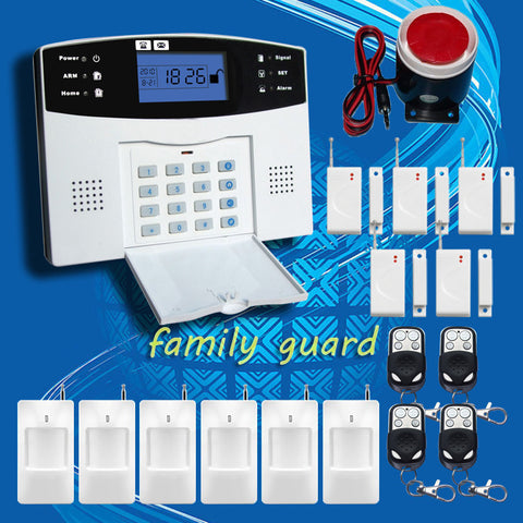 DHL Free Shipping!Wholesale - Wireless 433MHZ GSM SMS Home Burglar Security Alarm System Detector Sensor Kit Remote Control