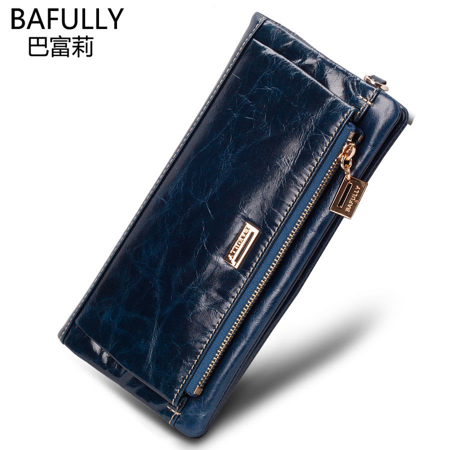 2016 New European And American Style women Genuine Leather Wallets Woman
