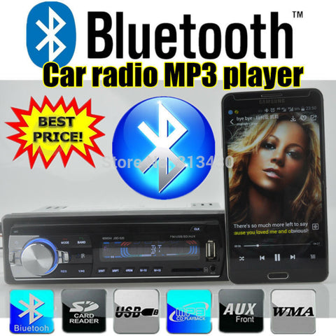 NEW 12V Bluetooth Car Stereo Radio MP3 Audio Player 5V Charger/APE/FLAC/MP3/FM /USB/SD/AUX-IN/ Car Electronics In-Dash 1 DIN