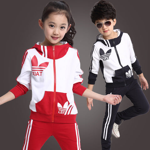 2016 spring new fall and winter clothes children's clothing girls sports suit