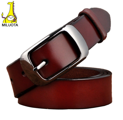 [MILUOTA] 2016 Famous brand belt women cinturones mujer genuine leather