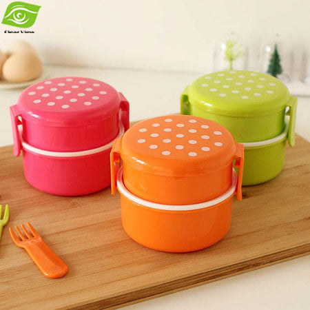 Candy Color Bento Lunch Box Kids Food Safe PP Food Container Microwave