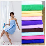 1 Pc 70x140cm Bamboo Towel Bath Shower Fiber Cotton Super Absorbent Home Hotel - Shopy Max