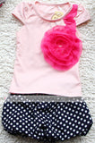 Summer New Children Girl's 2PC Sets Suit baby Clothing sets flowers t shirt