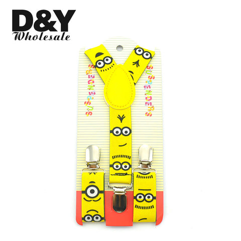 2016 New arrival Children boy girl Cute Carton Plaid Music Braces adjustable Elastic