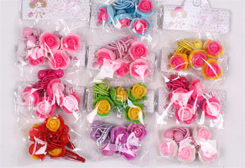 2016 Fashion Hair Accessories Baby Headband Kids Cute Hair Clip Elastic hair Bands Polyester Headbands Flower Hairpin For Girls