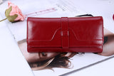 Fashion Genuine leather Women Wallets Luxury Brand Cowather Ladies Leather Women