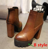 2014 autumn and winter short boots with thick heel ultra high heels platform boots martin boots fashion boots
