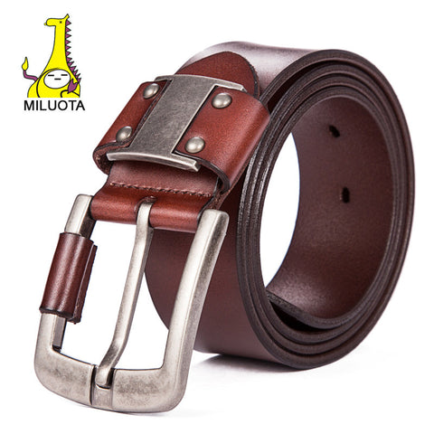 [MILUOTA] 2016 Luxury Strap Male Genuine Leather Belts for Men Fashion Brand
