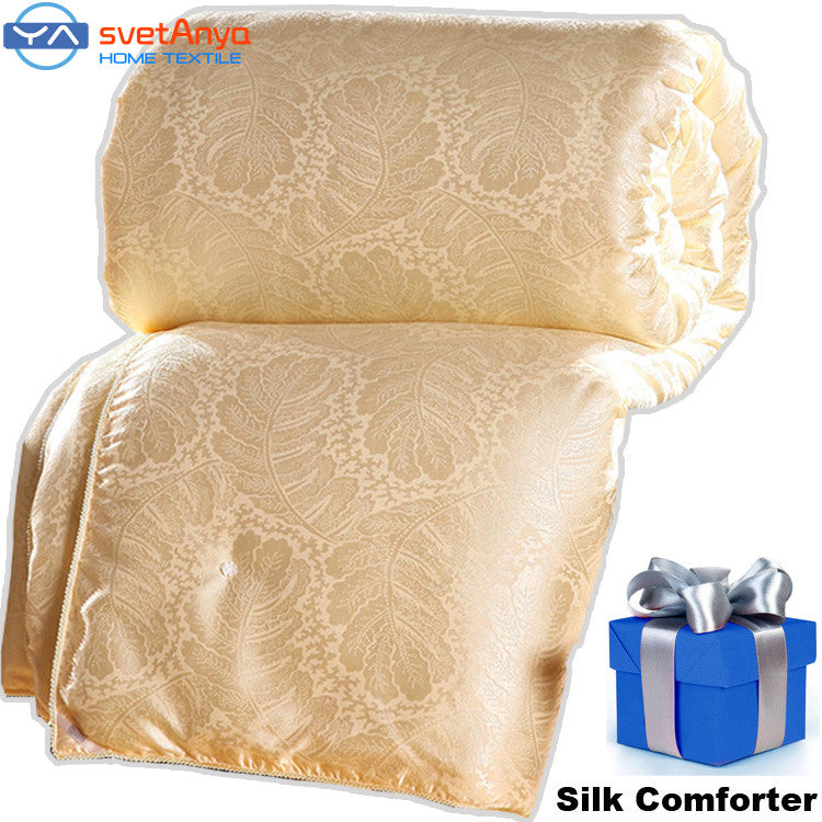 100% Natural/Mulberry Silk Comforter for Winter/summer Twin Queen King - Shopy Max