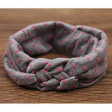 1 pieces Baby Printing Knot Hair Band Baby Girls Headband Ribbon Elasticity - Shopy Max