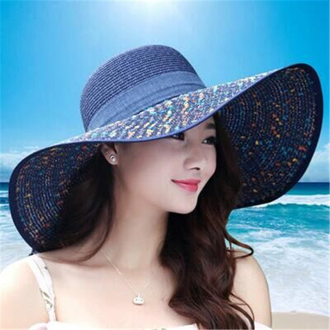 2016 Straw Hats For Women's Female Summer Ladies Wide Brim Beach Hats Sexy Chapeau Large Floppy