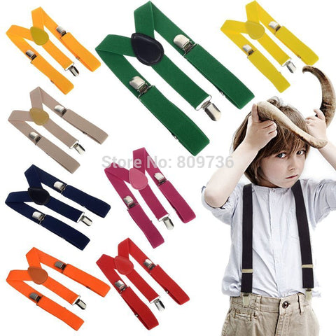 2014 New BOYS/GIRLS Suspender Children Clip-on Adjustable Elastic Pants Y-back
