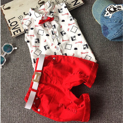 1349e9a543cb Hot sale! 2016 Summer style Children clothing sets Baby boys girls t shirts +shorts