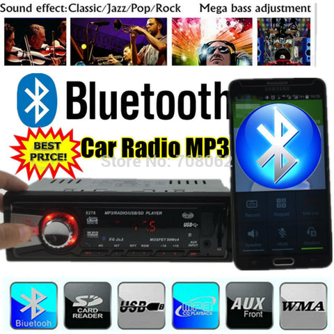 2015 New style Car radio bluetooth player one din size MP3 car Audio freehand