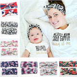 16 Colors 2016 New Mom and Me Headband With Knit Cotton Baby Girl Headband - Shopy Max