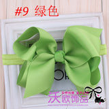 16Colors New Fashion Hot children kids Baby girls Big Ribbon Bowknot Headband Headwear Hair Band - Shopy Max