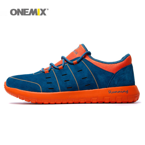 Original 2015 Onemix Men's damping running shoes breathable autumn winter athletic jogging shoes men's sneakers free shipping