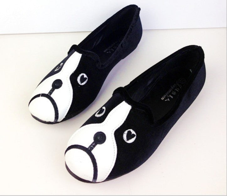 2013 Autumn new arrival women shoes free shipping personalized cat dog singles shoes velvet flat shoes comfortable S011