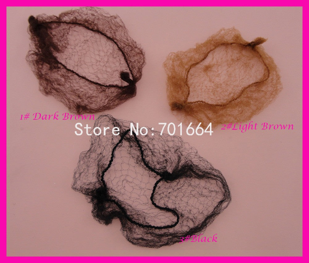 100PCS Children size about 30.0cm Colored Hiding Hairnet for holding ponytails - Shopy Max