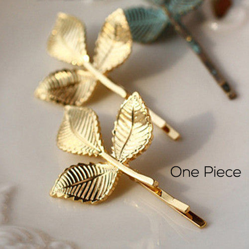 1 Pieces Elegant Europe and America Vintage Side Clip Leaves Hairpins Hair Jewelry Wholesale - Shopy Max
