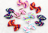 "10Pcs/lot New 2.5""Ribbon Bow clip Girl little hair top clip Dot/Printed/Solid Bow - Shopy Max"