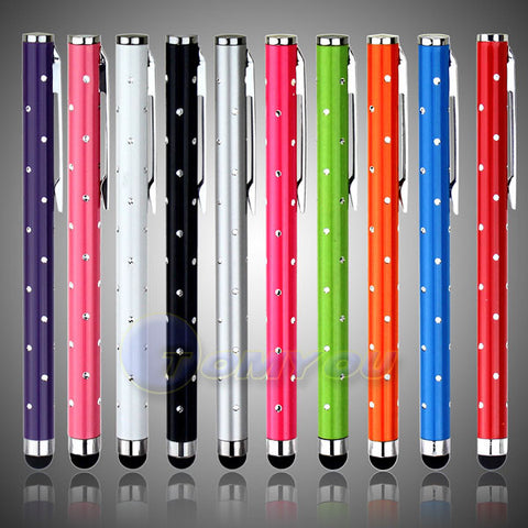 10 PCS Capacitive Touch Screen Stylus For Samsung S3 S4/iPhone 4S 5G Tablet PC Metal Stylus Touch Screen Pen + Free Shipping