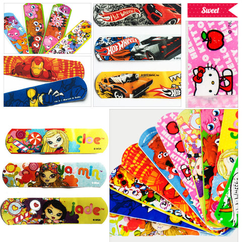 100 CT Variety Size Pack Bandages Cute Cartoon Band Aid For Kids