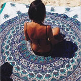 Round Beach Towel 150cm Polyester Towels Summer Large Microfiber Fabric Printed With Tassel Circle Beach Towel Serviette - Shopy Max