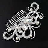 New Fashion Crystal Rhinestone Flower Hair Clip Comb Pin For Women Bridal Wedding - Shopy Max