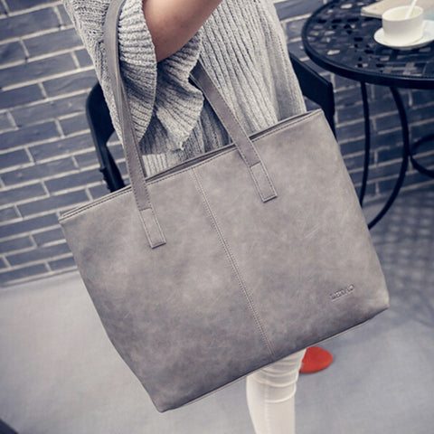 Fashion Women Bag Totes Women PU Leather Handbag Brief Shoulder Bags