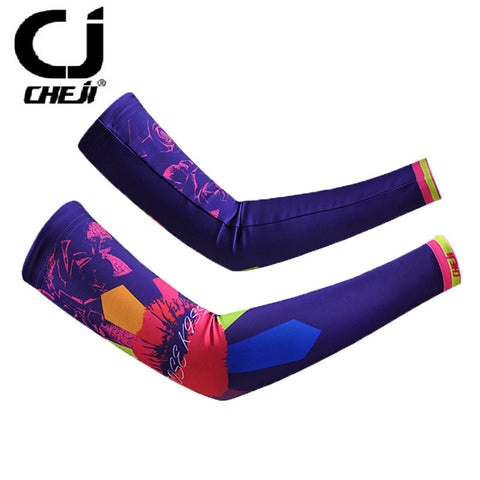 CHEJI Purple Womens Oversleeves Lady Moto Cycling Arm Warmers Bike Bicycle