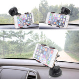 For Iphone 6 Universal Car Holder 360 degree rotation car Holder For Smart Phone PDS GPS PSP Camera Recoder With Retail Box