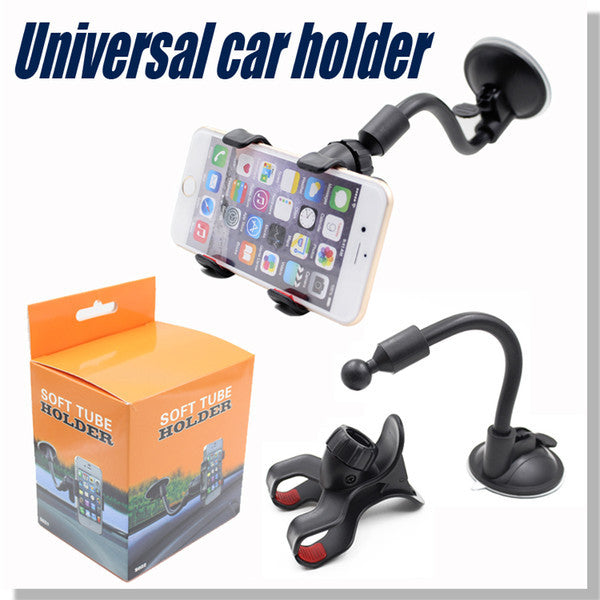 For Iphone 6 Universal Car Holder 360 degree rotation car Holder For Smart Phone PDS GPS Camera Recoder With Retail Box