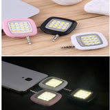 IBLAZR 16 Smartphone LED Flash Fill Light Camera Selfie Using For iPhone iPad Samsung Sony HTC LG IOS 6.0 Android 4.0 WP8.0 200pcs/lot - Shopy Max